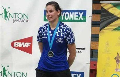 """מדליית כסף לפוליקארובה מעצמה """"בדמינטון חצור"""" בטורניר הבינ""""ל בג'מייקה"""