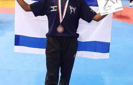 רבקה באייך ממועדון עצמה שרעבי זכתה במדליית ארד באליפות אירופה