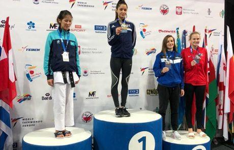 """4 מדליות ללוחמי עצמה """"שרעבי"""" באל' הפתוחה בפולין בטקוואנדו"""