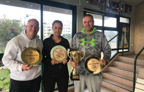 """הישג אדיר: עצמה """"גולדן טניס"""" נתניה זכה לראשונה בגביע ליגת המועדונים"""