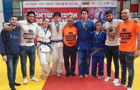 """כותרת: 4 מדליות לספורטאי עצמה """"סמוראי דו ראשל""""צ"""" באל' ישראל לקדטים"""