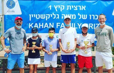 ההישגים של עצמה טניס בני הרצליה בתחרות הארצית באשקלון