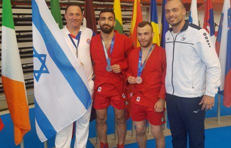 """אבסוב וגולוב ממועדון """"עצמה האתלט ראשל""""צ"""" זכו במדליית ארד באל' אירופה"""
