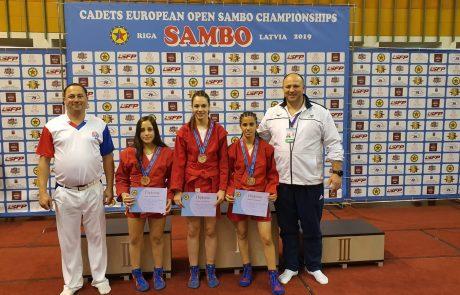 """כותרת: 3 מדליות ארד לספורטאיות """"עצמה האתלט ראשל""""צ"""" באל' אירופה לקדטים בסמבו"""