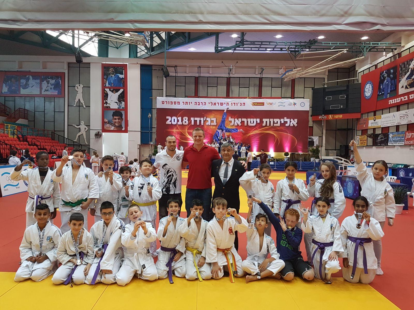 """אלופי ישראל בג'ודו ממועדון """"עצמה האתלט ג'ודוקאן ראשל""""צ"""""""